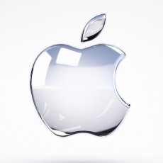 Logo Apple sticlă