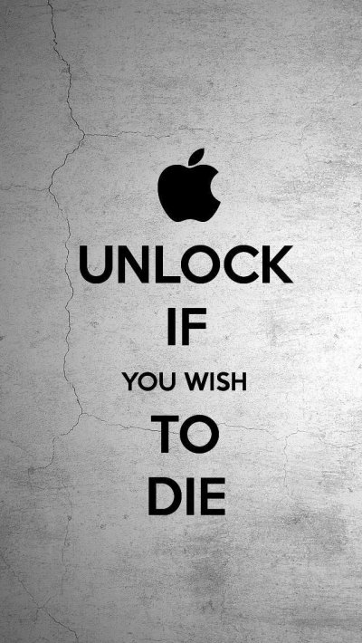 Unlock if you wish to die